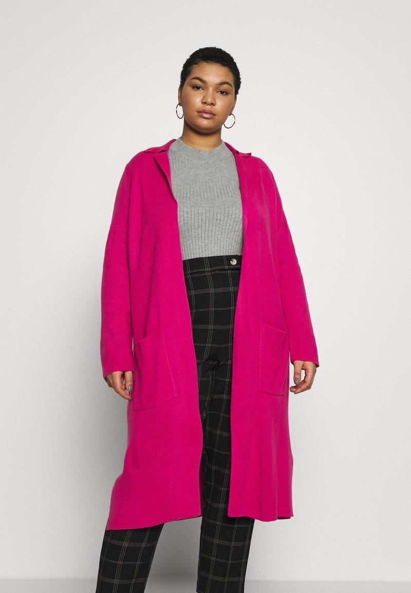 Simply Be - LONGLINE COATIGAN - Cardigan - bright pink