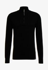 ANACONA - Stickad tröja - black