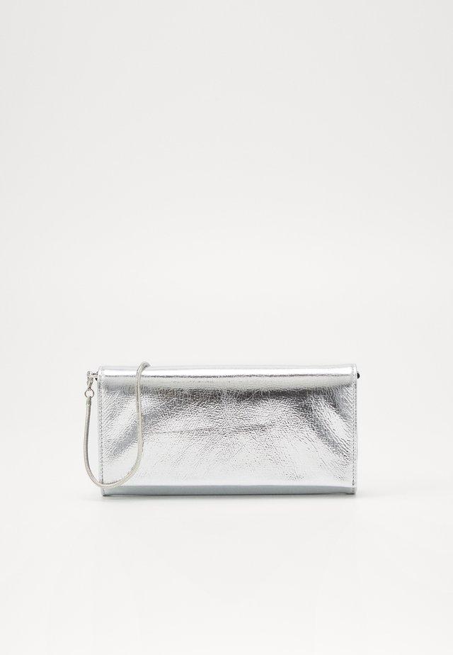 Portefeuille - metallic silver