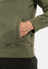 camel active - Zip-up sweatshirt - olive brown - 4