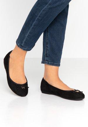 ESSENTIAL SUEDE - Ballet pumps - black