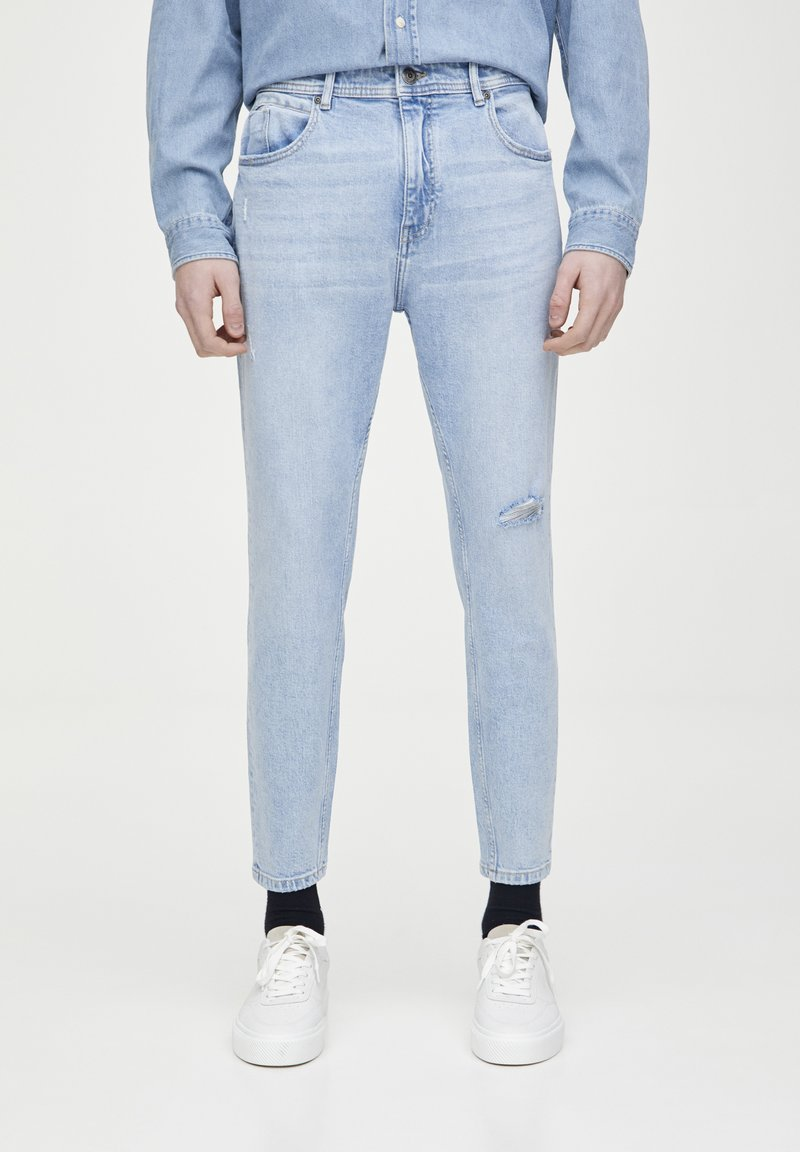 PULL&BEAR - Jeans Tapered Fit - light blue