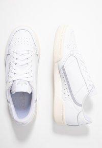 adidas Originals - CONTINENTAL 80  - Trainers - footwear white/chalk white/silver metallic - 5