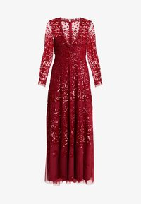 Needle & Thread - AURORA V-NECK GOWN - Abito da sera - cherry red - 4