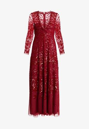 AURORA V-NECK GOWN - Occasion wear - cherry red