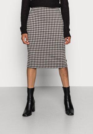 IHKATE CHECKY SK - Falda de tubo - black