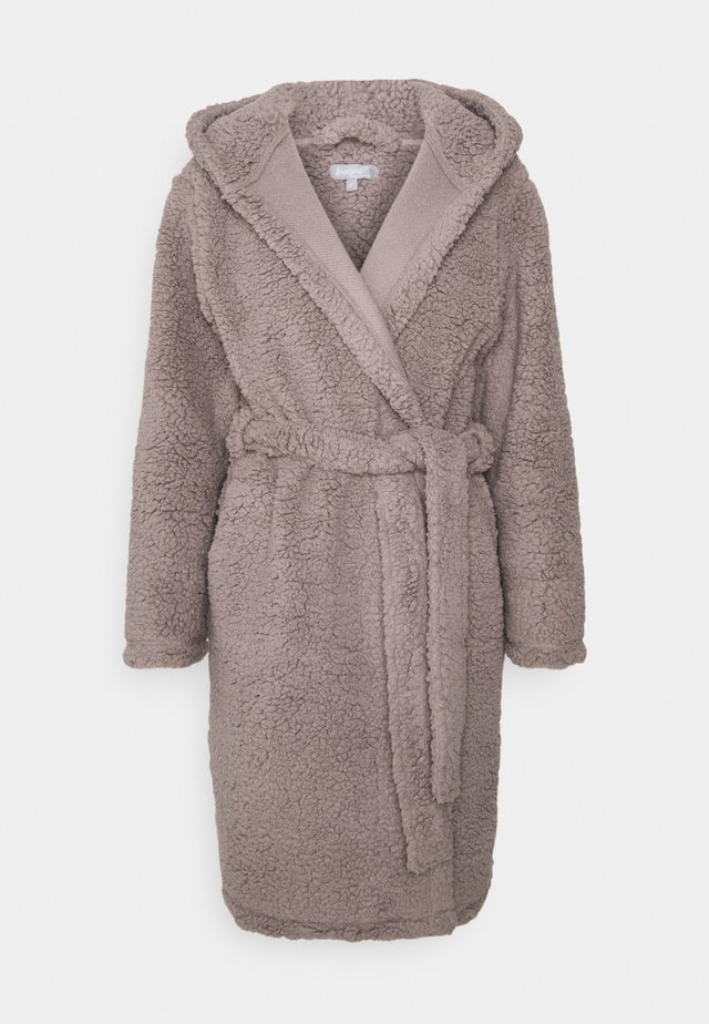 ROBE WITH SIDE POCKETS - Peignoir - taupe