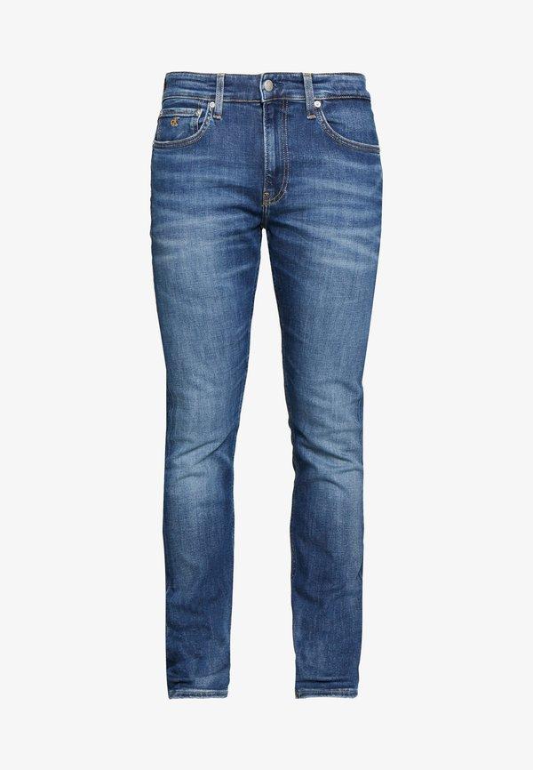 Calvin Klein Jeans SLIM - Jeansy Slim Fit - mid blue/ciemnoniebieski Odzież Męska UWXC