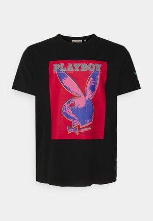 TEE PLUS - T-shirt z nadrukiem - black