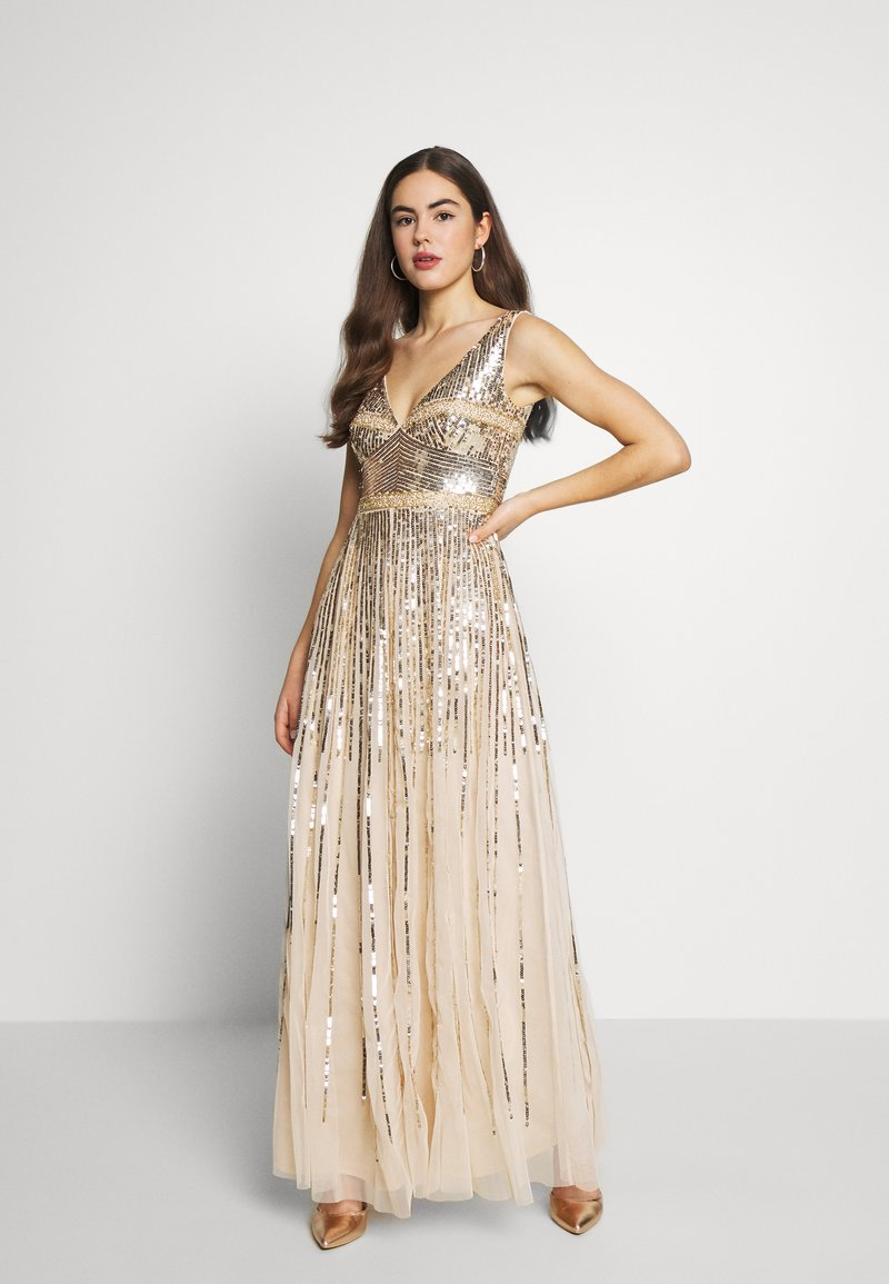 Lace & Beads - MEDUSA MAXI - Abito da sera - gold