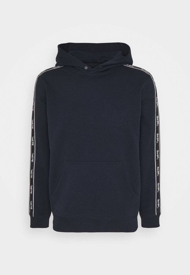 HORSE AND CARRIAGE TAPE HOODIE - Mikina s kapucí - navy