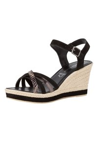 Marco Tozzi - Wedge sandals - black comb - 2