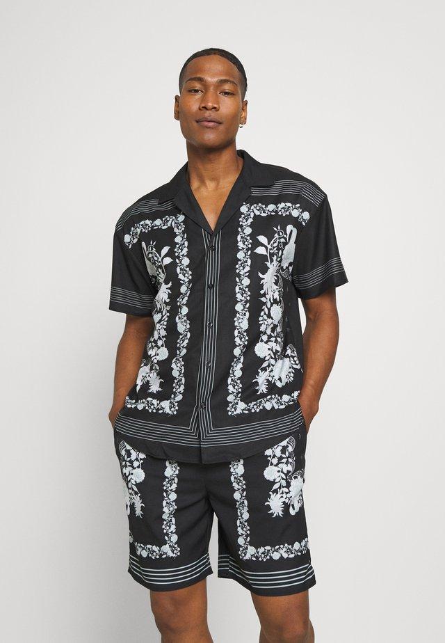 BORDER REVERE SHIRT - Camicia - black