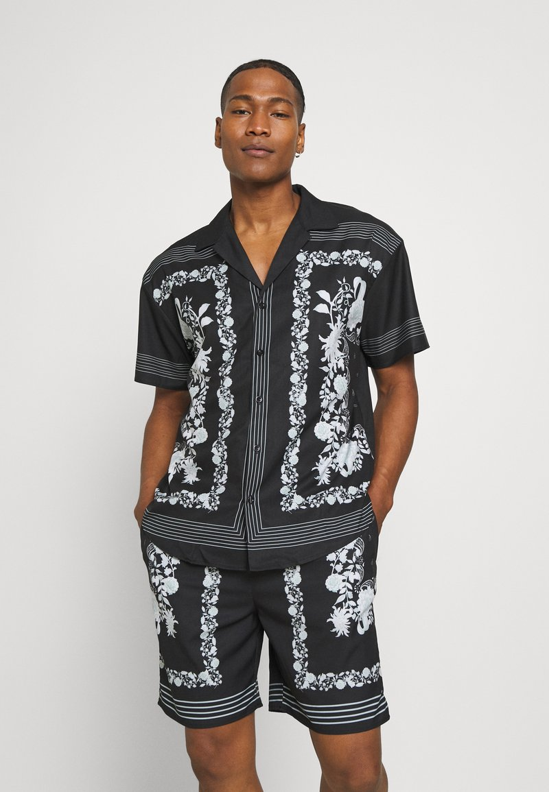 Mennace - BORDER REVERE SHIRT - Shirt - black