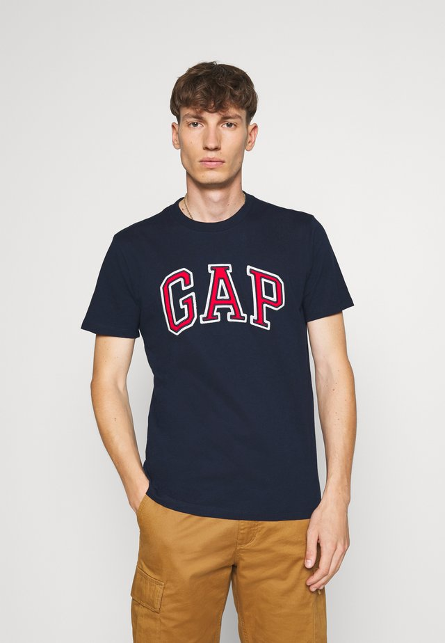 BAS ARCH - T-shirt z nadrukiem - tapestry navy