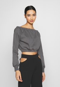 Nly by Nelly - OFF SHOULDER - Sweatshirt - off black - 0