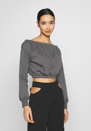 OFF SHOULDER - Sweatshirt - off black