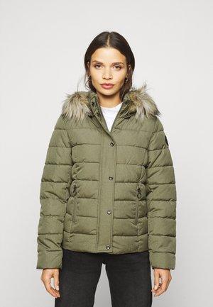 ONLLUNA QUILTED JACKET  - Winter jacket - deep lichen green melange