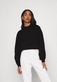 Vero Moda - VMALFIE DROP SHOULDER - Maglietta a manica lunga - black - 0