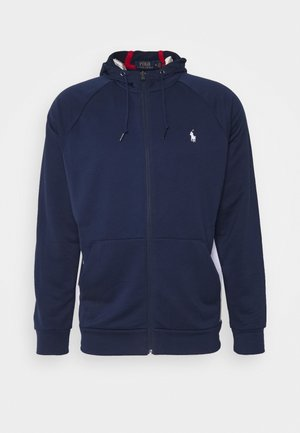 LONG SLEEVE - veste en sweat zippée - newport navy