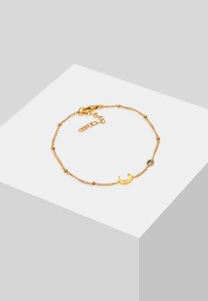 HALBMOND ASTRO TURMALIN FEIN 925 STERLING SILBER - Bracelet - gold