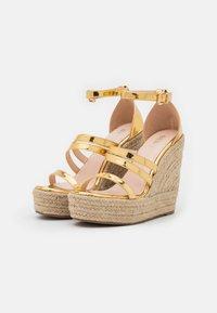 BEBO - MIRELLE - Platform sandals - gold - 2
