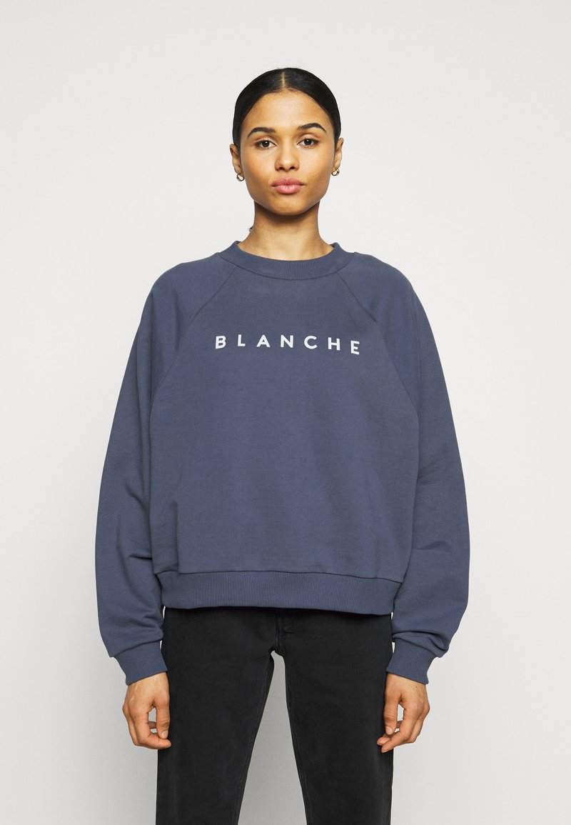 BLANCHE - HELLA EXCLUSIVE - Sweatshirt - indigo/white