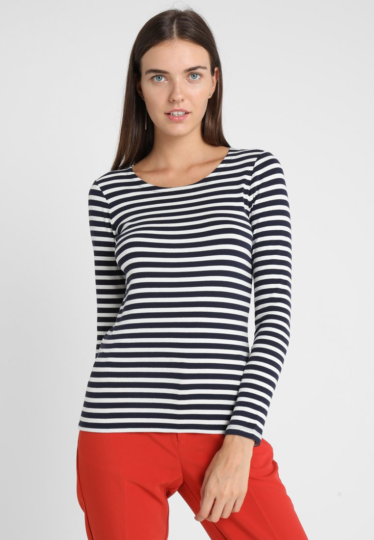Women 1X1 RIB STRIPED LS - Long sleeved top