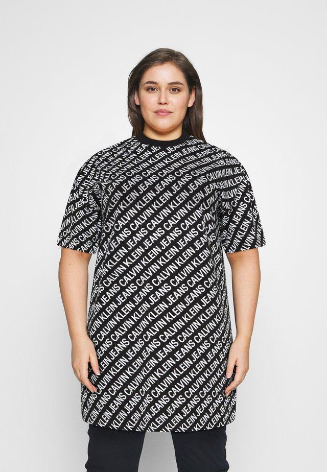 Sukienka z dżerseju - black/white