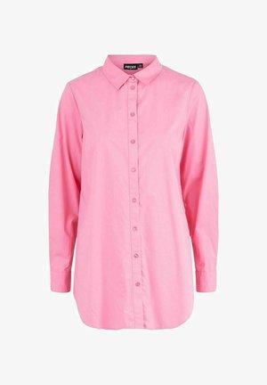 LONGLINE - Button-down blouse - azalea pink