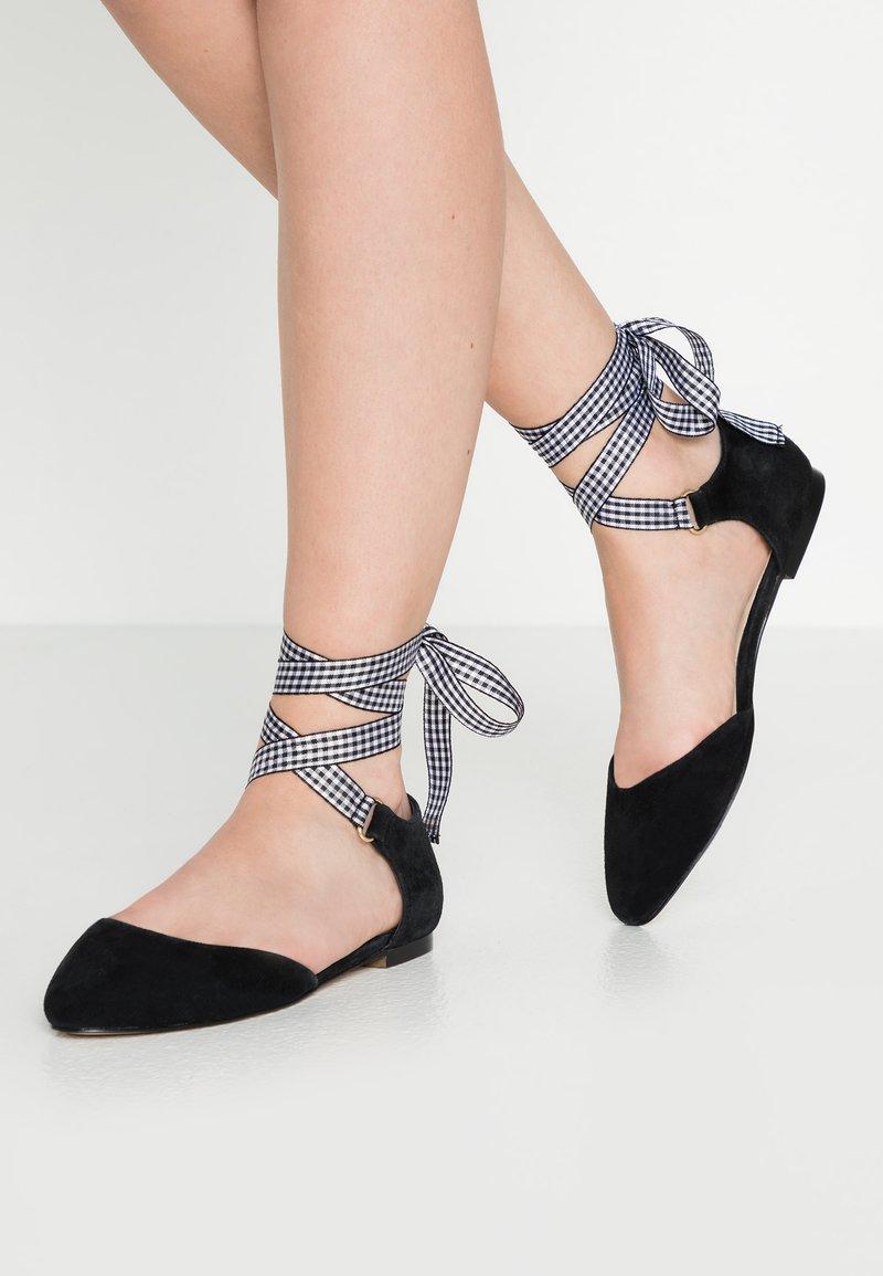 mint&berry - Ankle strap ballet pumps - black