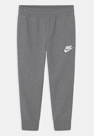 PLUS CLUB - Tracksuit bottoms - carbon heather/white