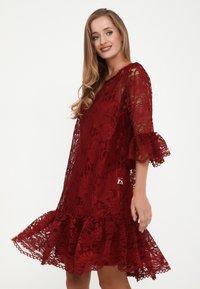 Madam-T - Cocktail dress / Party dress - weinrot - 3