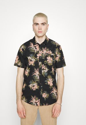 FLORAL WITH CHEESE - Shirt - black