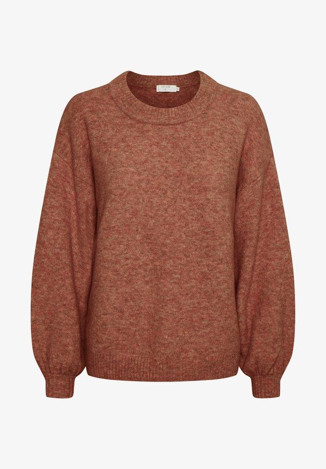 Stickad tröja - etruscan red melange