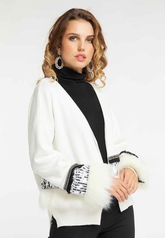Chaqueta de punto - wool white