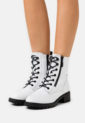 KONSTANZ - Lace-up ankle boots - white