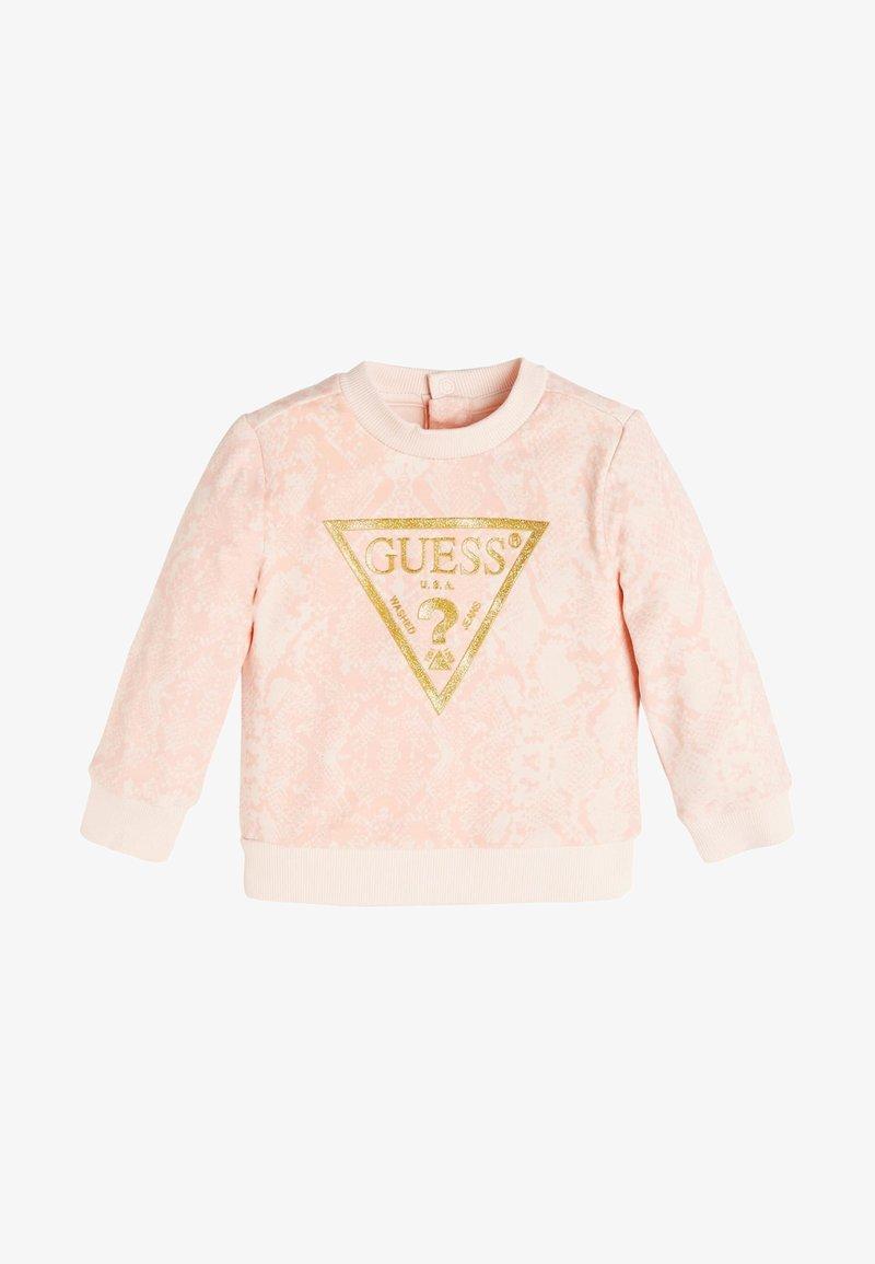 Guess - LOGO ALLOVER-PRINT - Sweater - hellrose