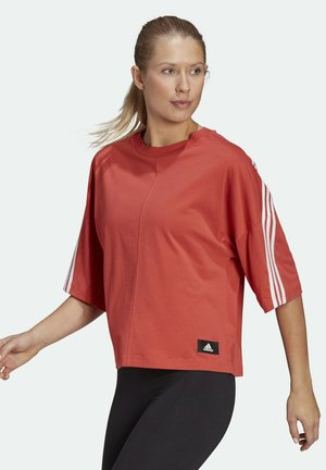 ADIDAS SPORTSWEAR FUTURE ICONS 3-STRIPES T-SHIRT - Print T-shirt - red