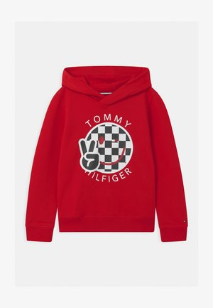 SMILE HOODIE UNISEX - Jersey con capucha - red