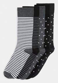 Pier One - 5 PACK - Sokken - black/mottled grey - 0