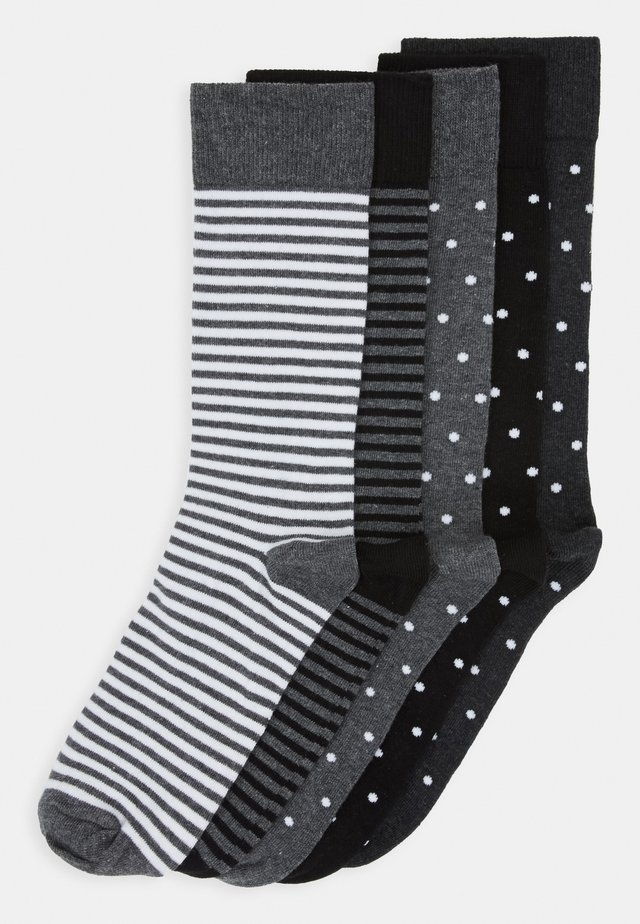 5 PACK - Socks - black/mottled grey