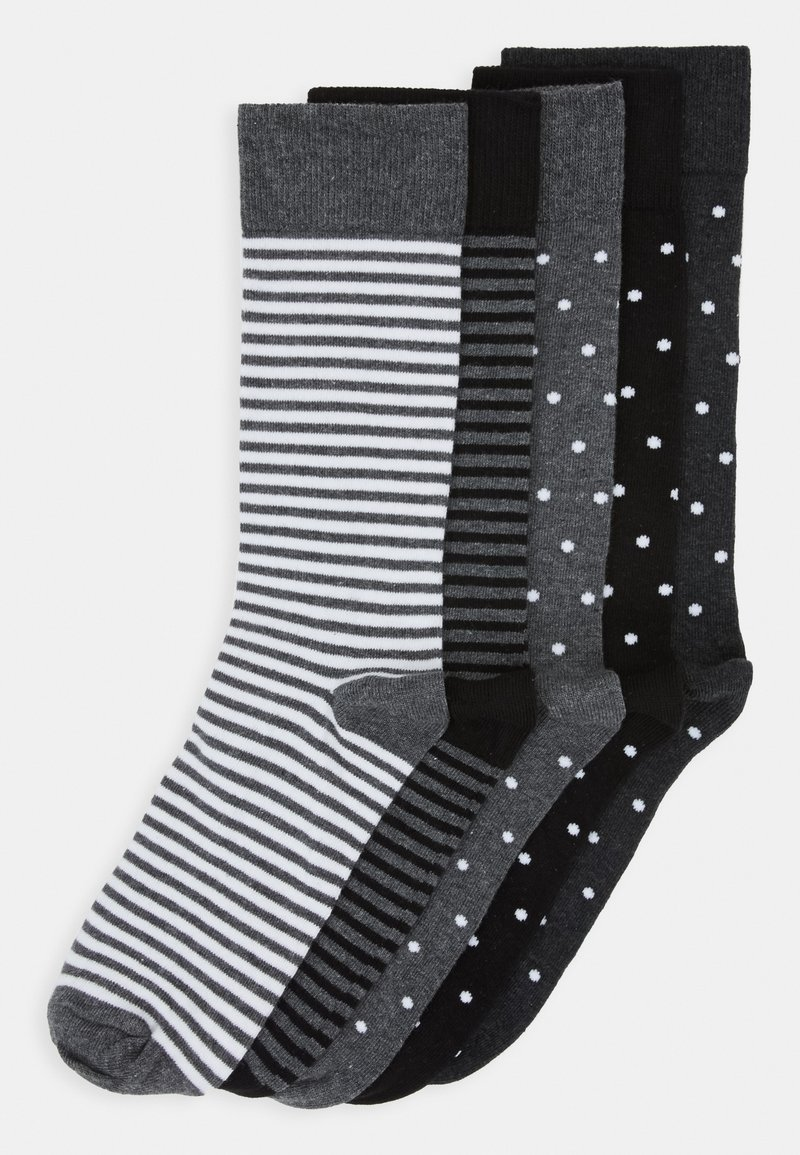 Pier One - 5 PACK - Sokken - black/mottled grey