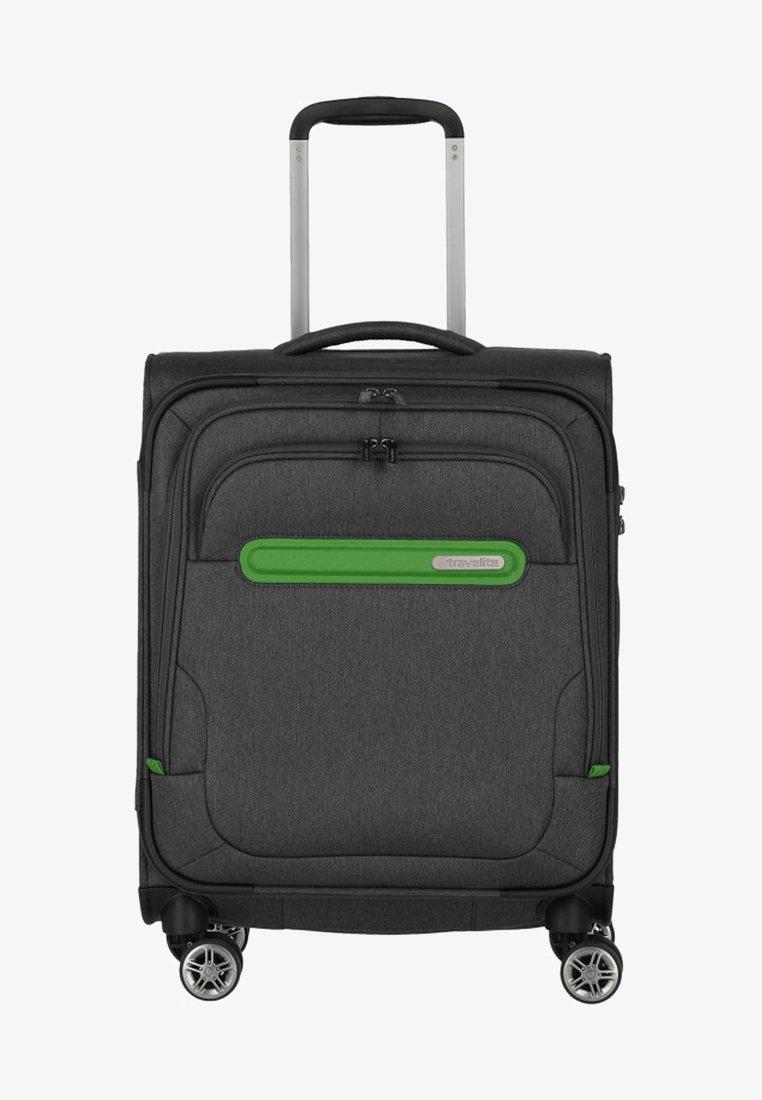 Travelite - MADEIRA - Wheeled suitcase - anthracite/green