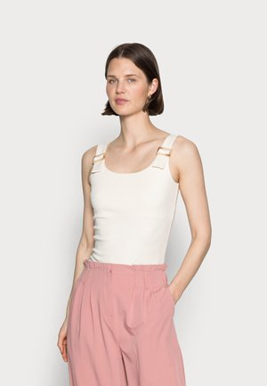 HORN BUCKLE TOP CLEAN FINISH - Top - off-white