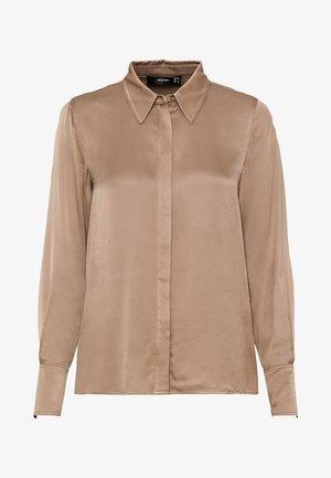 Button-down blouse - camel