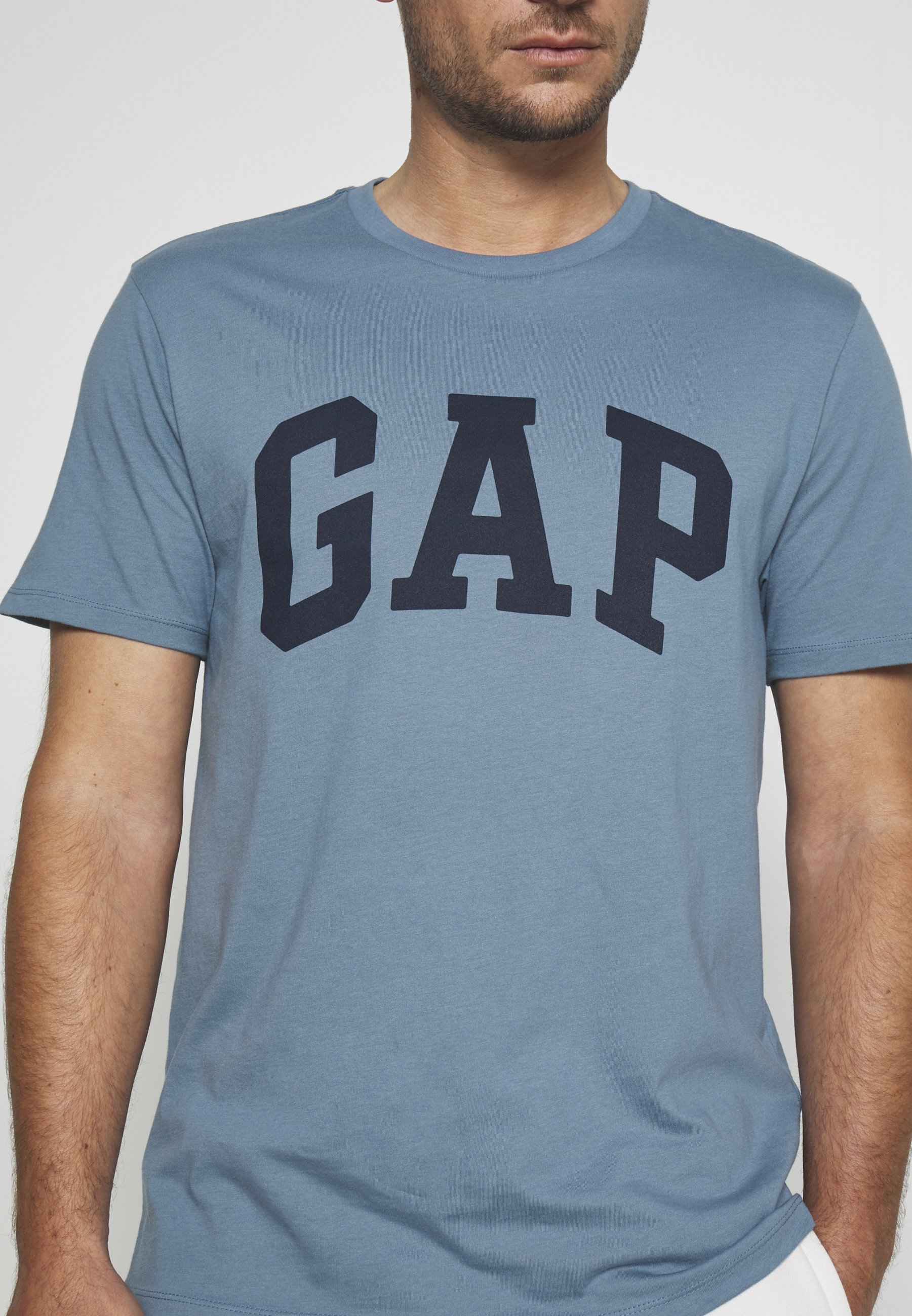 GAP BASIC LOGO - Print T-shirt - pacific PfoCr
