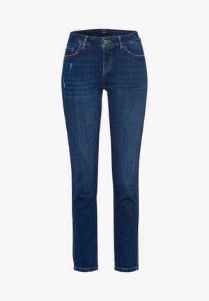 SEATTLE - Slim fit jeans - mid blue used wash