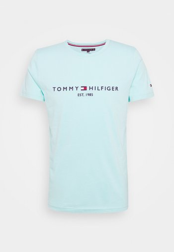LOGO TEE - T-shirt med print - miami aqua