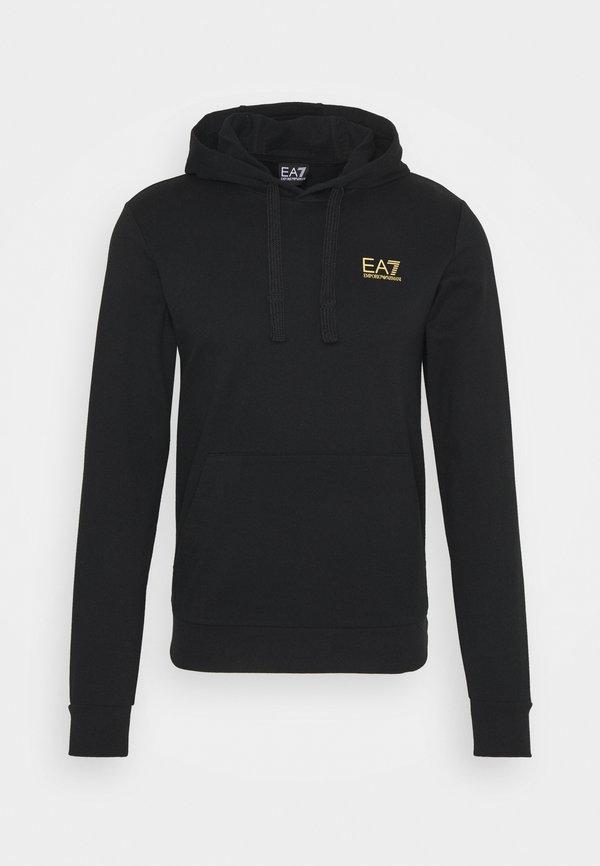 EA7 Emporio Armani Bluza z kapturem - black/gold/czarny Odzież Męska BFGW